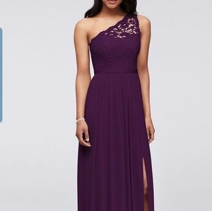 Davids bridal plum bridesmaid dress